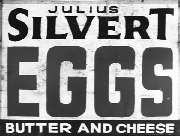 Julius Silvert eggs vintage sign
