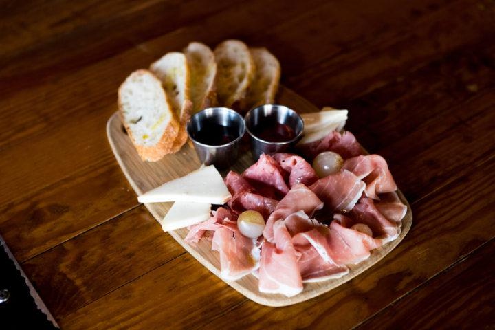 Bread and prosciutto board
