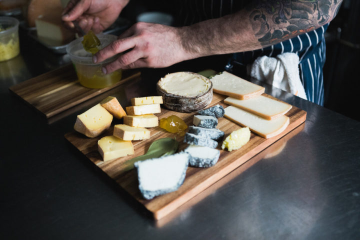 Preparing a cheese board